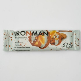 Протеиновый батончик IRONMAN Protein Bar, без глазури, арахис-карамель, 50 г