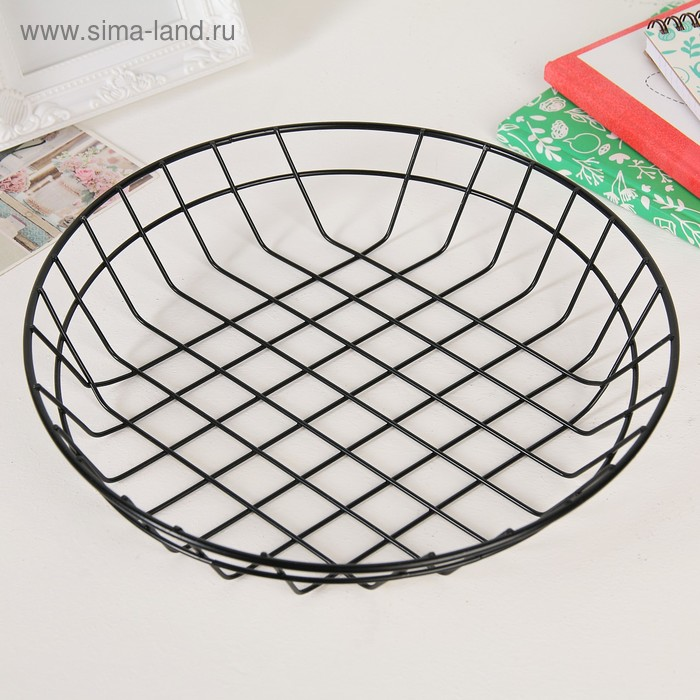 Basket for small items, 25,5×25,5×5 cm, color black