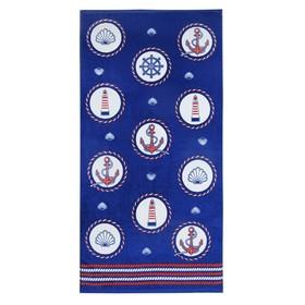 Полотенце «Регата», размер 60 × 120 см, цвет синий
