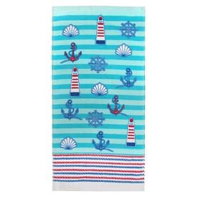 Полотенце «Регата», размер 33 × 70 см, цвет синий