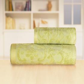 Полотенце «Бамбук жаккард», размер 50 х 90 см, цвет зелёный