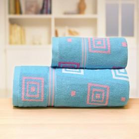 Полотенце «Лабиринт», размер 70 × 140 см, цвет синий
