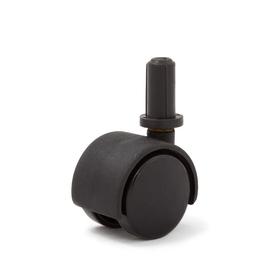 Колесо мебельное, d=40 мм, поворотный штифт , d=8 б/т черный