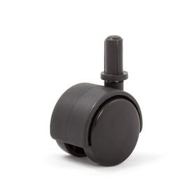 Колесо мебельное, d=50 мм, поворотный штифт , d=8 б/т черный