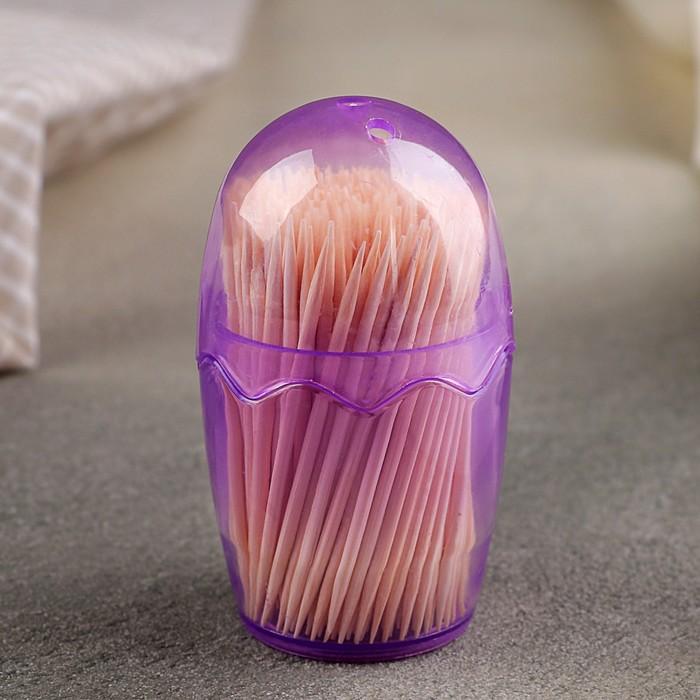 Зубочистки 180-200 шт, мягкая упаковка, цвет МИКС