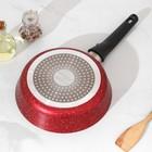 Сковорода, d=24 см, антипригарная, литая, индукционное дно, съёмная ручка - фото 738377