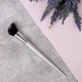Brush d/party makeup / casual makeup/powder and blush SHINE 20cm skosh 35/35 silver PVC QF