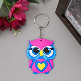 "Keychain rubber ""Doll with a heart"" 5,5x4,5 cm"