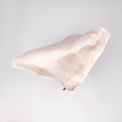 Shawl women's Diagonal size 70*70 cm, color powder