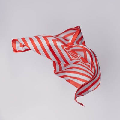 """Shawl women's """"Geometry"""", size 70*70 cm, color red"""