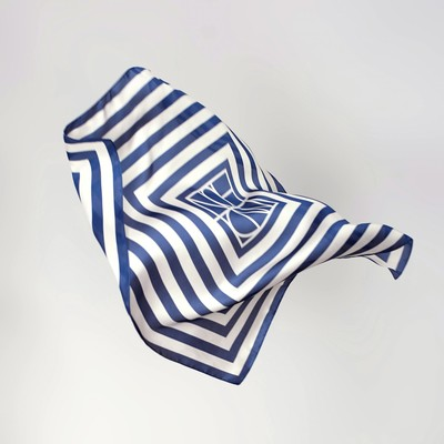 "Shawl women's ""Geometry"", size 70*70 cm, colour blue"