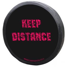 Чехол на запасное колесо «KEEP DISTANCE S» черный/красный