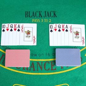 """Карты игральные пластик """"Texas Hold'em"""", 54 шт, 8.8х6.3 см  микс"""