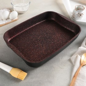 Baking tray Granit Ultra, 365 × 260 × 55 mm, AP line, red.