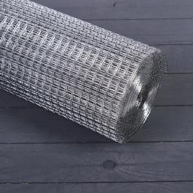 Сетка оцинкованная, сварная, 1 × 10 м, ячейка 12,5 × 12,5 мм, d = 1 мм, металл