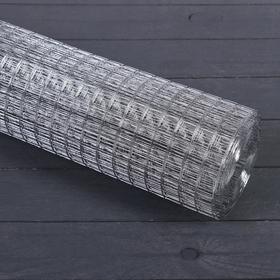 Сетка оцинкованная, сварная 1 × 10 м, ячейка 20 × 20 мм, d = 0.6 мм, металл