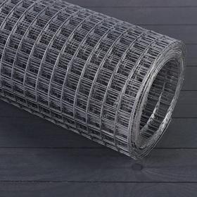 Сетка оцинкованная, сварная, 1,5 × 10 м, ячейка 25 × 25 мм, d = 1,2 мм, металл