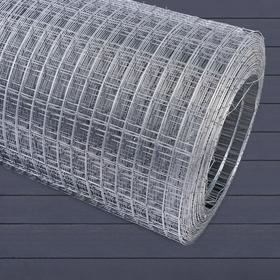 Сетка оцинкованная, сварная 1 × 25 м, ячейка 25 × 50 мм, d = 1 мм, металл