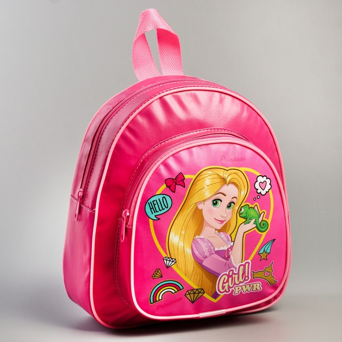 Рюкзак детский кожзам «Girl PWR», Принцессы, 26,5 х 23,5 см