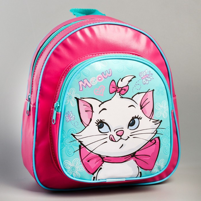 Рюкзак детский кожзам «Meow», Коты Аристократы, 26,5 х 23,5 см - фото 798479572