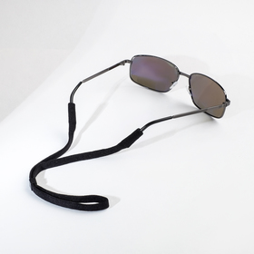 """Шнурок для очков """"Верёвка"""" плотная, цвет чёрный F79160"""