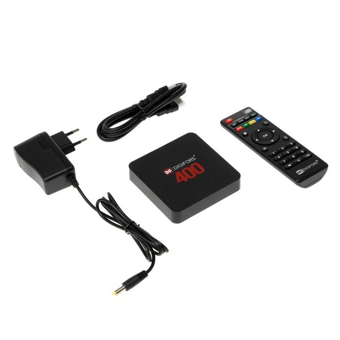 Приставка Смарт ТВ Digifors Smart 400, 2Гб, 16Гб, Android, 4K, Wi-Fi, HDMI, черная