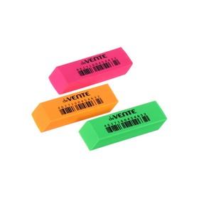 Ластик deVENTE Neon, синтетика, 56 х 19 х 9 мм, прямоугольный, микс х 3 цвета (штрих-код на каждом ластике)