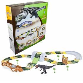 Гибкий трек «Динопарк» с 1 большим динозавром, 1 машинкой, 134 детали