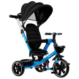 """Велосипед трёхколёсный Micio Veloce+, колёса EVA 10""""/8"""", цвет синий"""