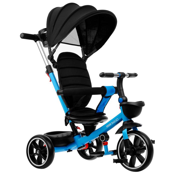 """Велосипед трехколесный Micio Veloce +, колеса EVA 10""""/8"""", цвет синий"""