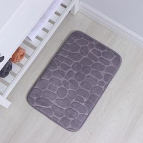 Коврик «Галька», 40×60 см, цвет серый - фото 4652664