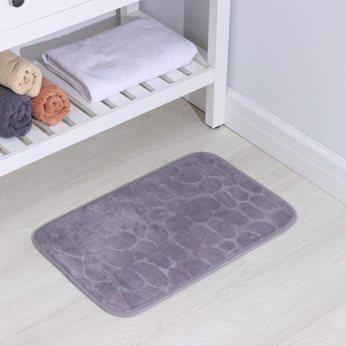 Коврик «Галька», 40×60 см, цвет серый - фото 4652663