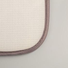 Коврик «Галька», 40×60 см, цвет серый - фото 4652666