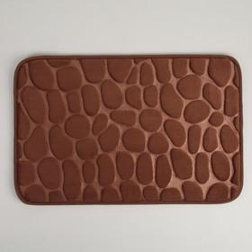 Коврик «Галька», 40×60 см, цвет коричневый - фото 4652669