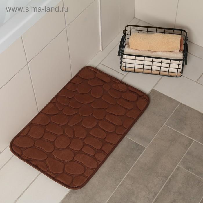 """Mat 40x60 cm """"Pebble"""" color brown"""