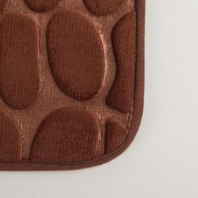 Коврик «Галька», 40×60 см, цвет коричневый - фото 4652670