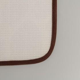 Коврик «Галька», 40×60 см, цвет коричневый - фото 4652671