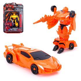 Робот «Спорткар», трансформируется, цвет оранжевый