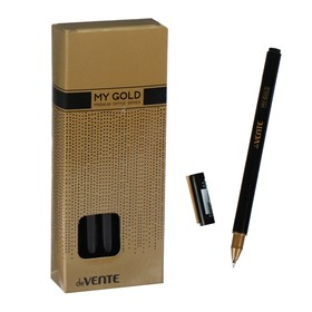 Ручка гелевая deVENTE My Gold, чёрные чернила, 0.5 мм, чёрный корпус