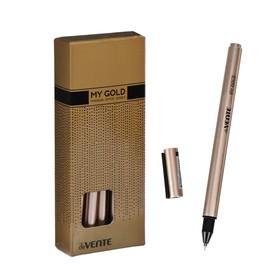 Ручка шариковая deVENTE My Gold 0.7 мм, ультрагладкое письмо, синие чернила, масляная основа, золотой корпус