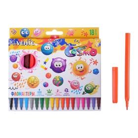 Фломастеры 18 цветов deVENTE Cosmo, вентилируемый колпачок, в картонной коробке