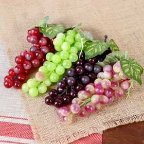 Artificial grape, round berries (36 berries), mix