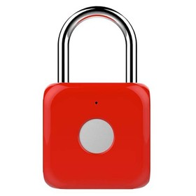 Умный замок Digma SmartLock P1, навесной, разбл.отпеч.пальца, 100мАч, красный (SRP1)