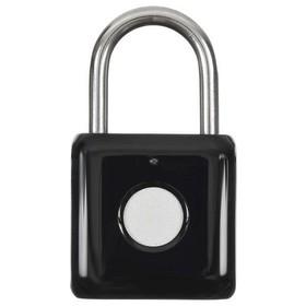 Умный замок Digma SmartLock P1, навесной, разбл.отпеч.пальца, 100мАч, черный (SRP1)