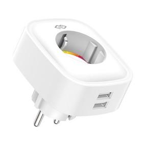 Умная розетка Digma DiPlug 300, EU VDE, Wi-Fi, белая