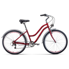 "Велосипед 26"" Forward Evia Air 1.0, 2020, цвет красный/белый, размер 16"""
