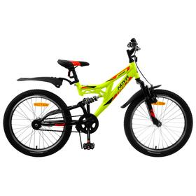 """Велосипед 20"""" Novatrack Shark, 2020, цвет салатовый"""