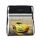 Мешок для обуви 470 х 370, Оникс МО 26-2с, «Sport car жёлтый», светоотражающая полоса