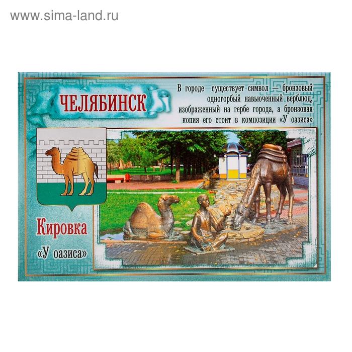 """Магнит закатной """"Челябинск У оазиса"""""""
