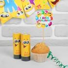"Firecracker spring ""happy birthday!"" smiles, 2 PCs., 11 cm, topper, garland"